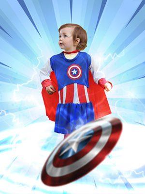Traje Capitán América niña