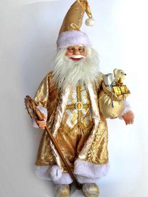 Santa Decorativo Dorado
